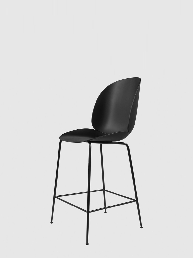 Beetle Bar Chair – Conic Black Base – Black – 63