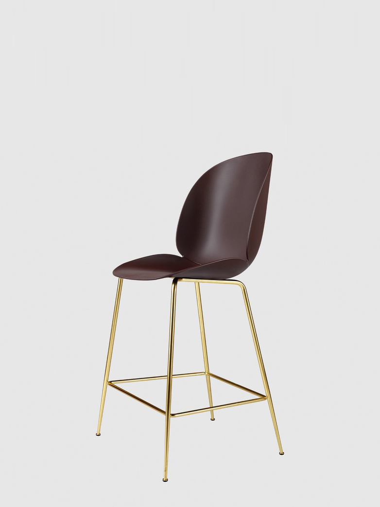 Beetle Bar Chair – Conic Brass Base – Dark Pink – 63