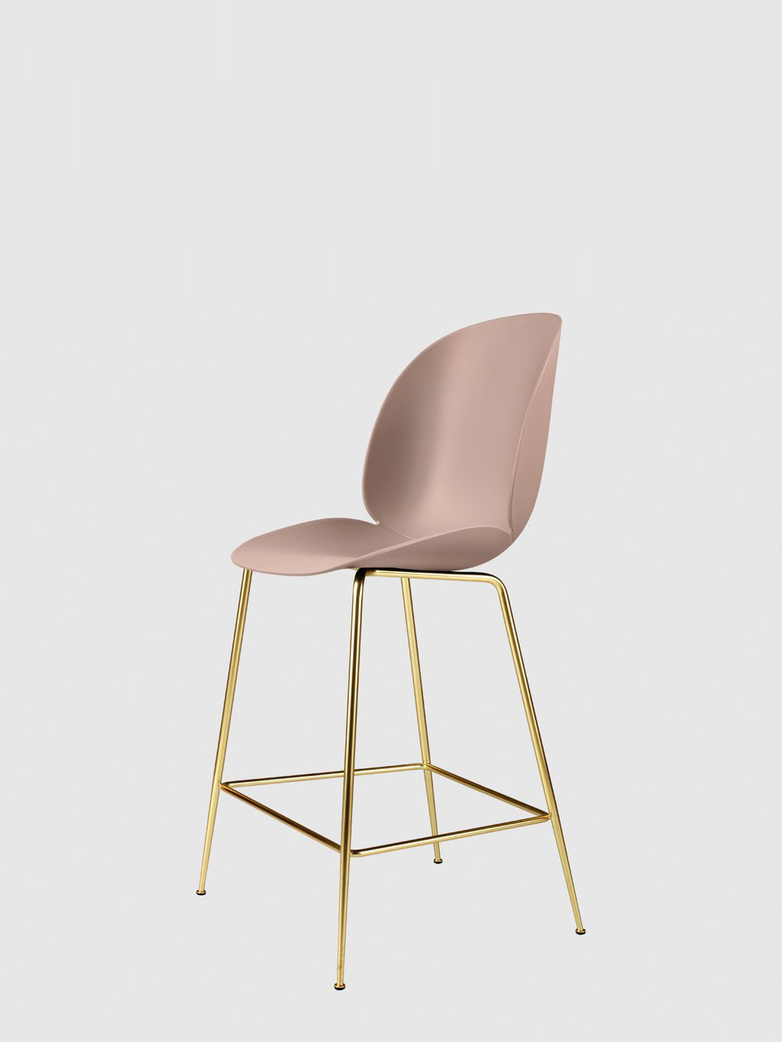 Beetle Bar Chair – Conic Brass Base – Sweet Pink – 63