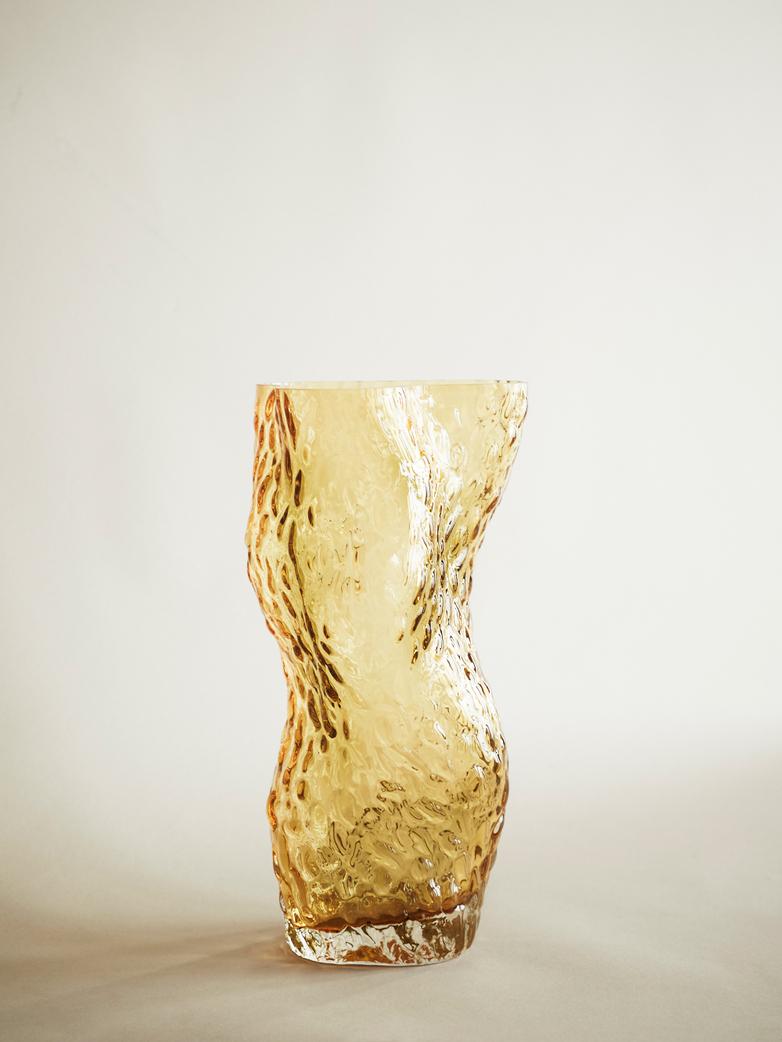 Pachena Glass Vase – Amber