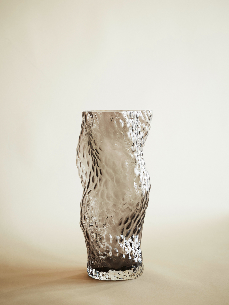 Pachena Glass Vase – Smoke