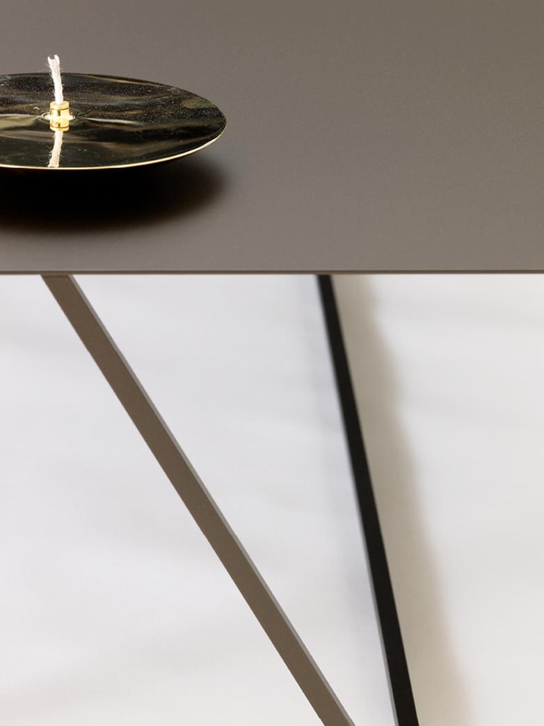 Oblique Steel Sofa Table – 118 x 118