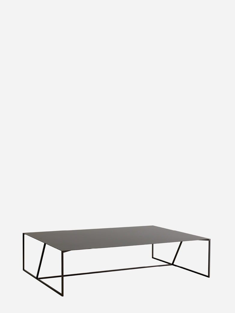 Oblique Steel Sofa Table – 118 x 78