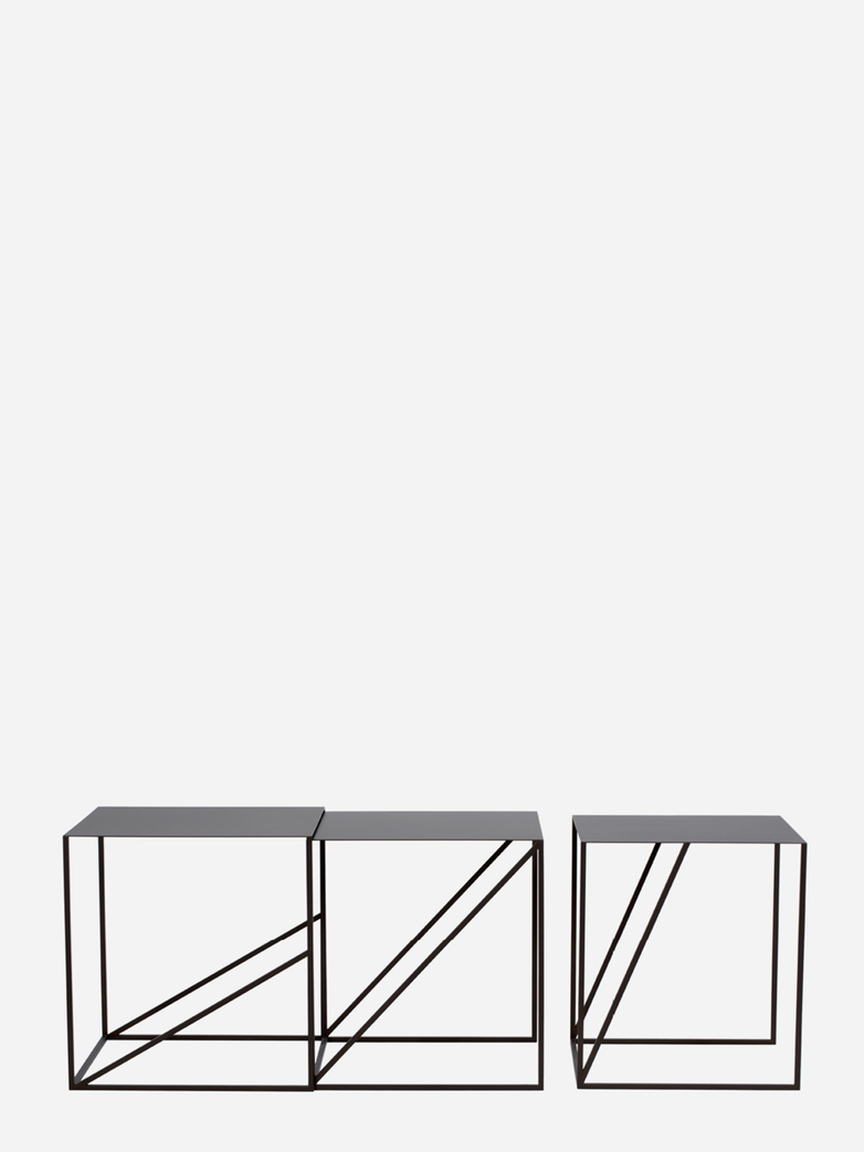 Oblique Sliding Tables – Set of Three