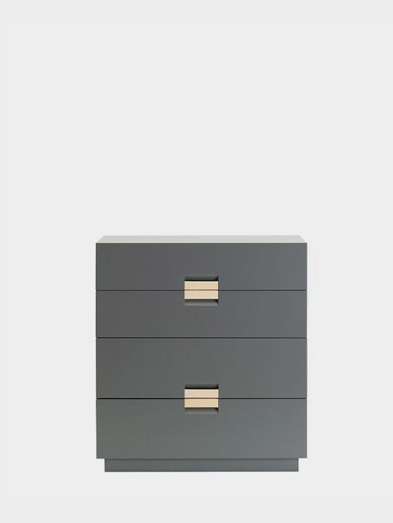 Frame Drawer Medium – Storm Grey - Natural Leather
