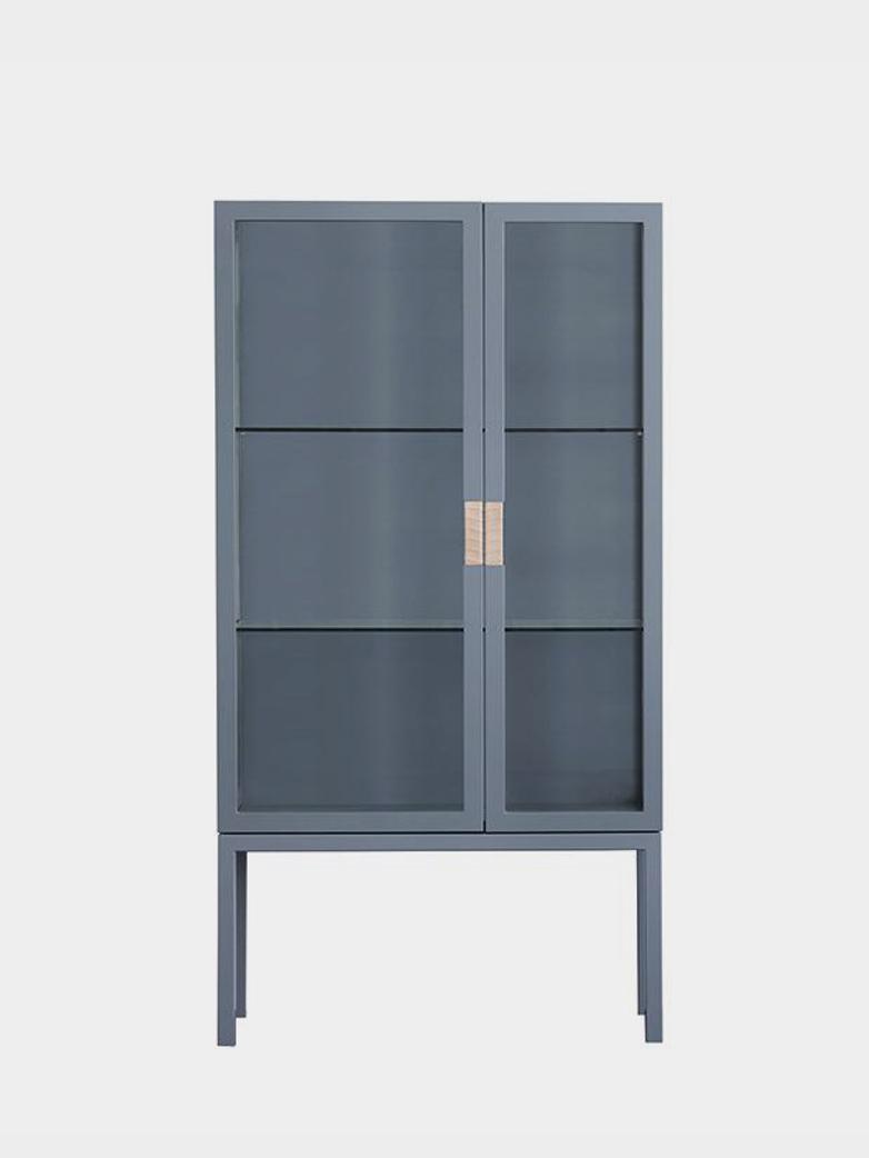 Frame Cabinet – Nordic Blue - Natural Leather