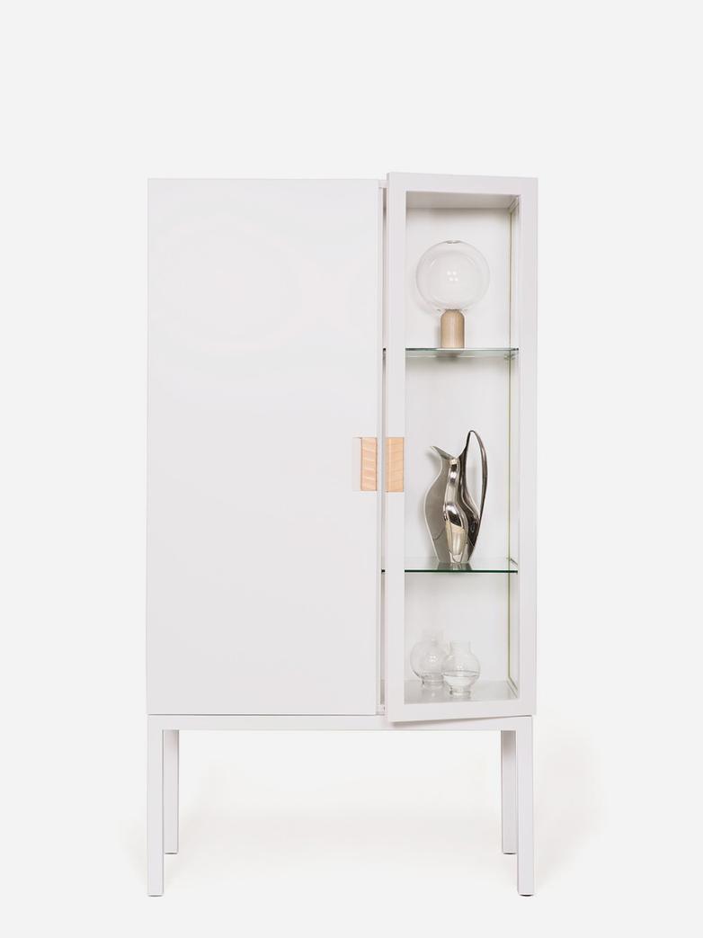 Frame Semi Cabinet – White