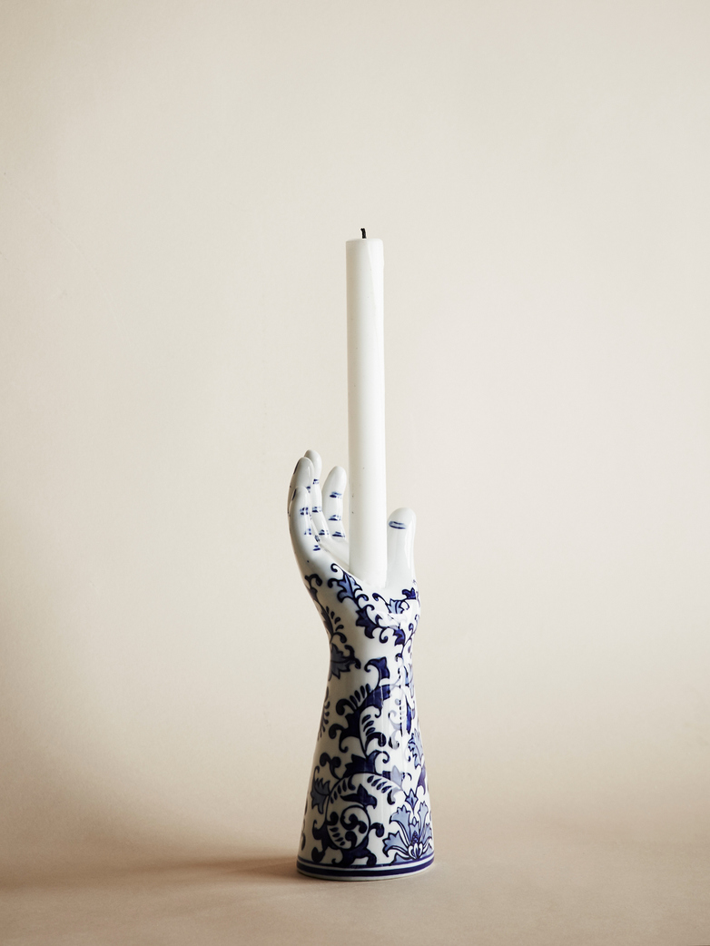 Delft Hands Candle Holder – Small