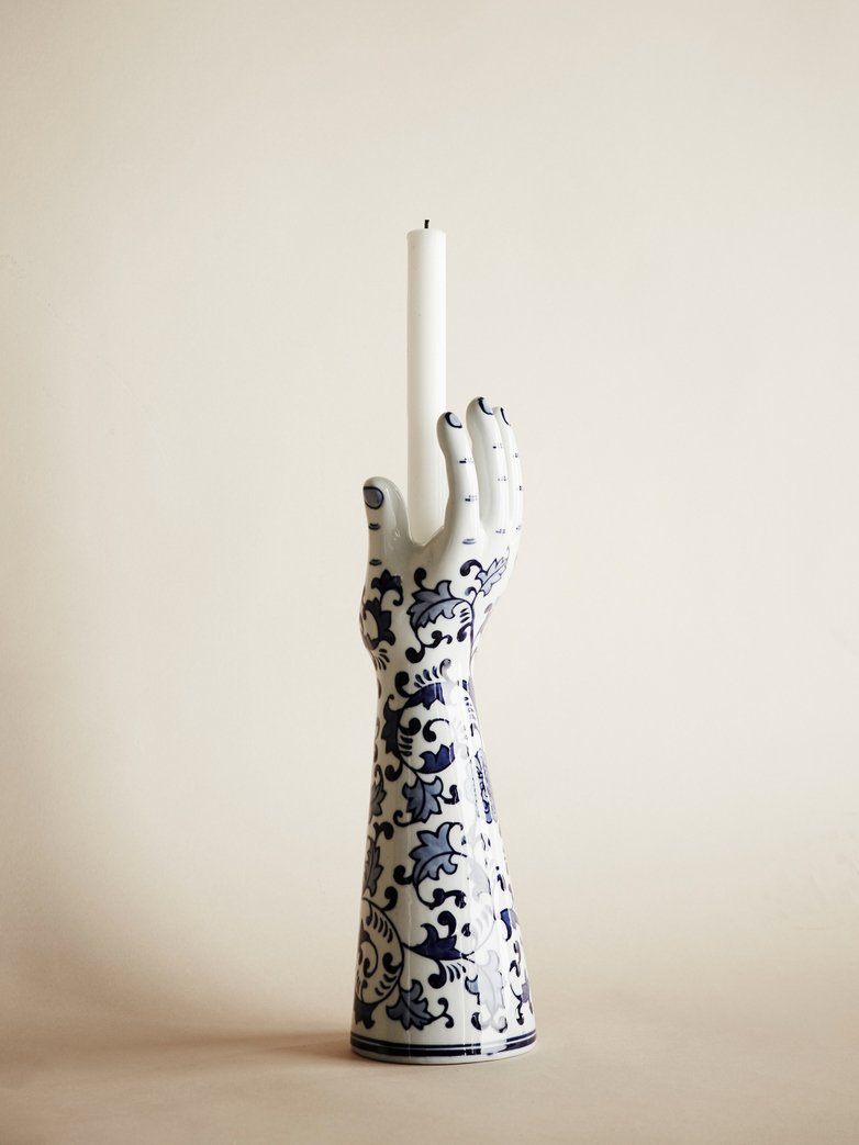 Delft Hands Candle Holder – Large