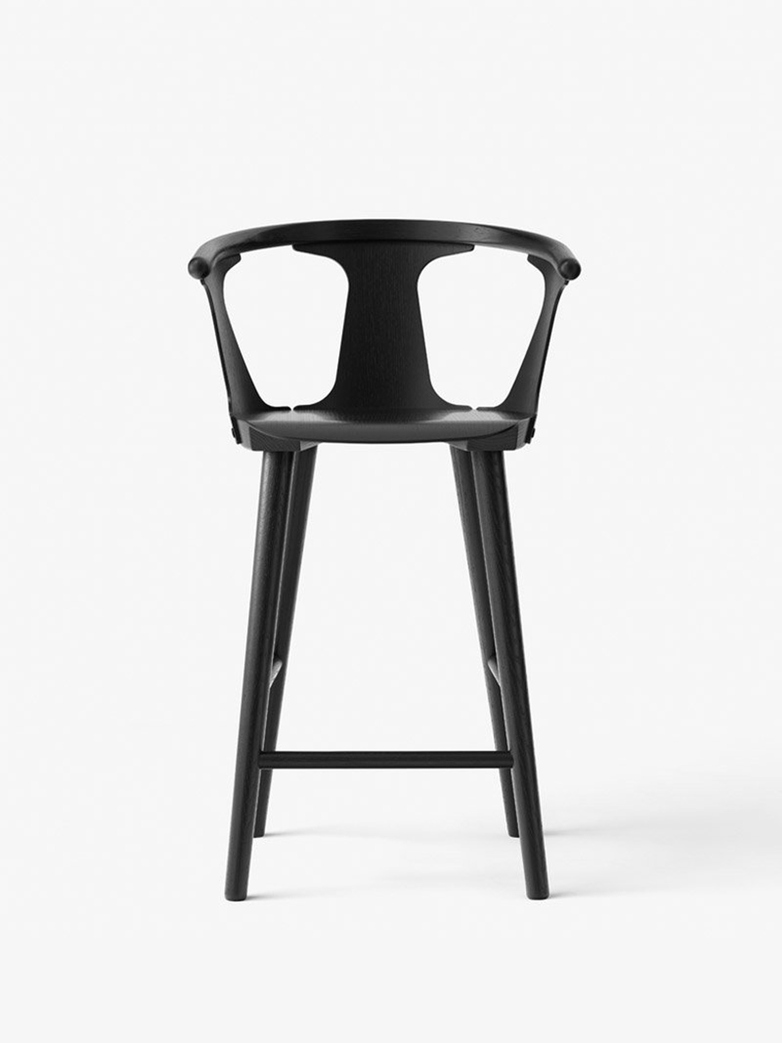 In Between Stool – Black Lacquered Oak