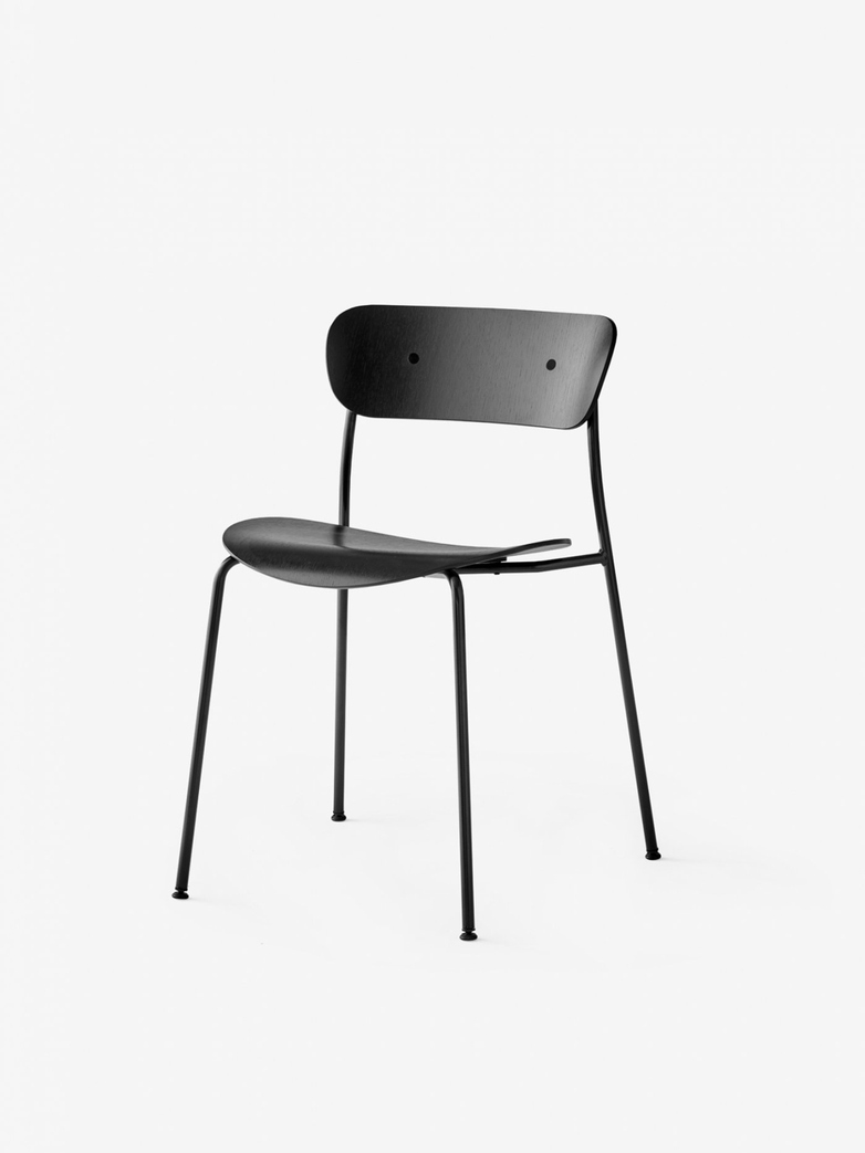 Pavilion Chair – Black Lacquered Oak