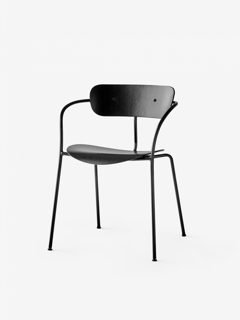 Pavilion Armchair – Black Lacquered Oak