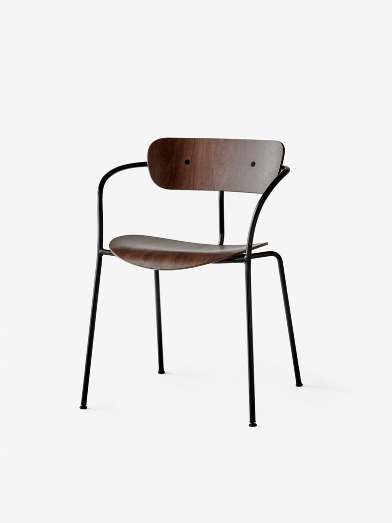 Pavilion Armchair – Lacquered Walnut
