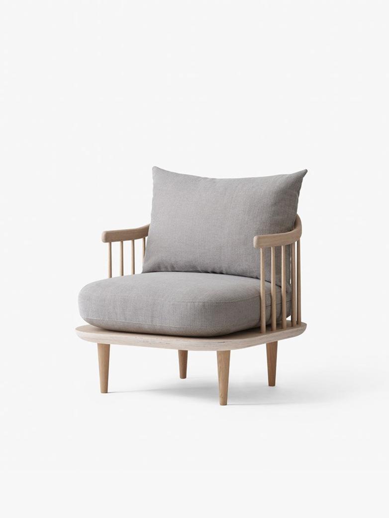 Fly Chair SC10 White Oiled Oak – Light Grey