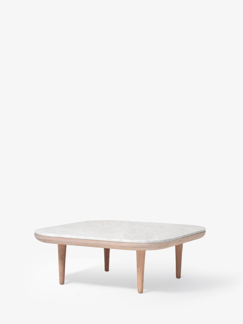Fly SC4 Lounge Table - White Oiled Oak/Carrara Marble