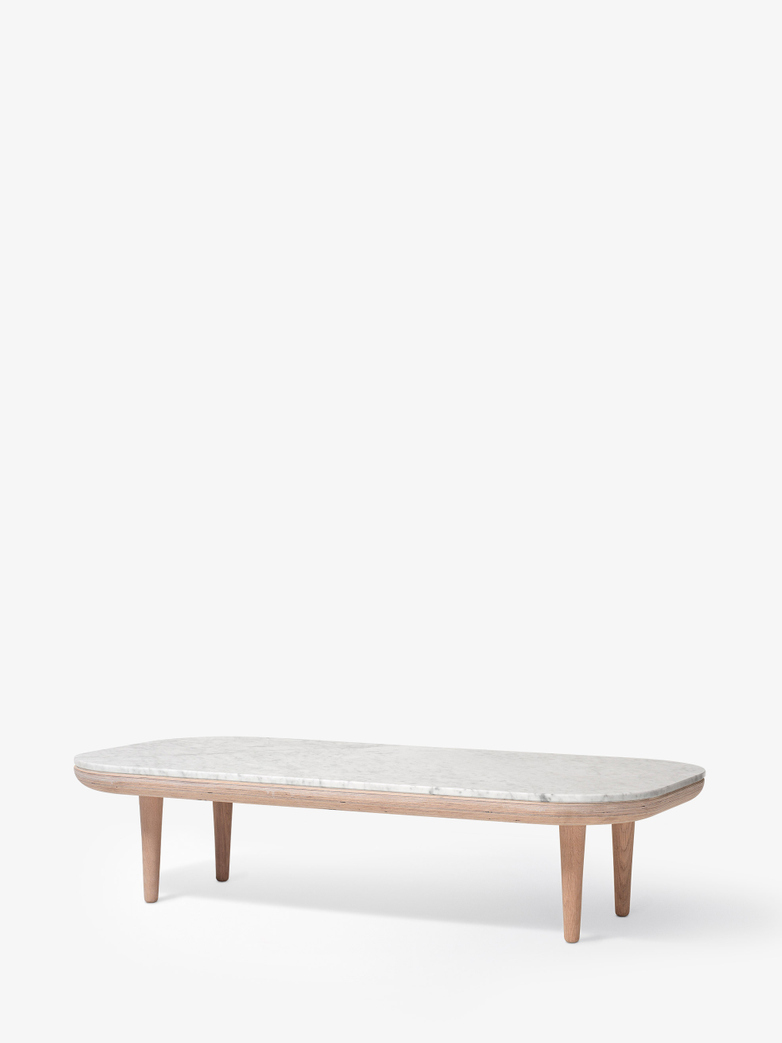Fly SC5 Lounge Table - White Oiled Oak/Carrara Marble