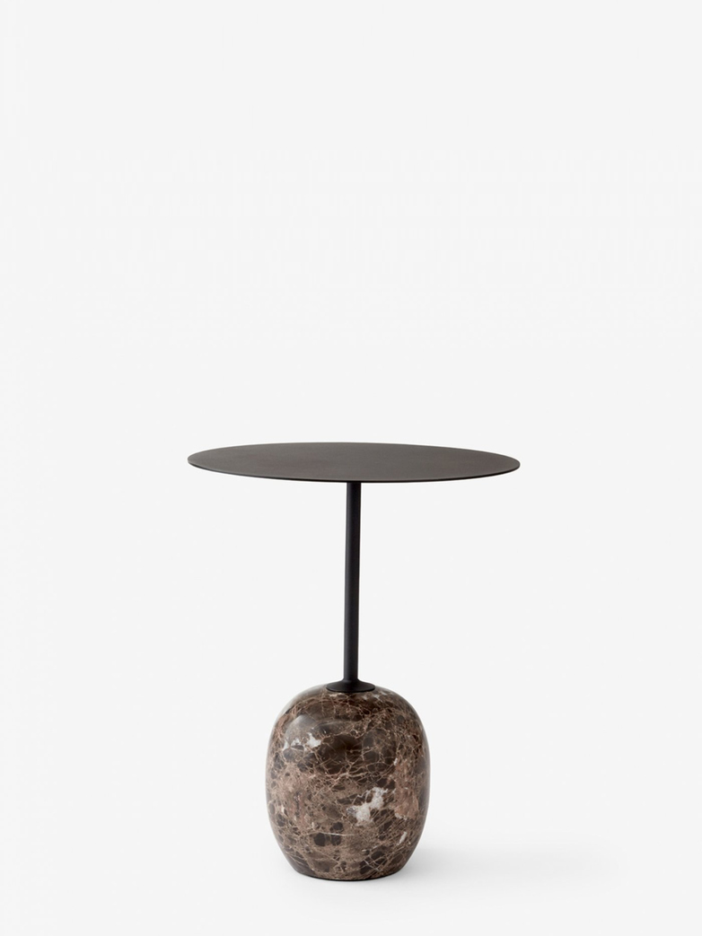 Lato Table LN8 – Warm Black & Emparador Marble