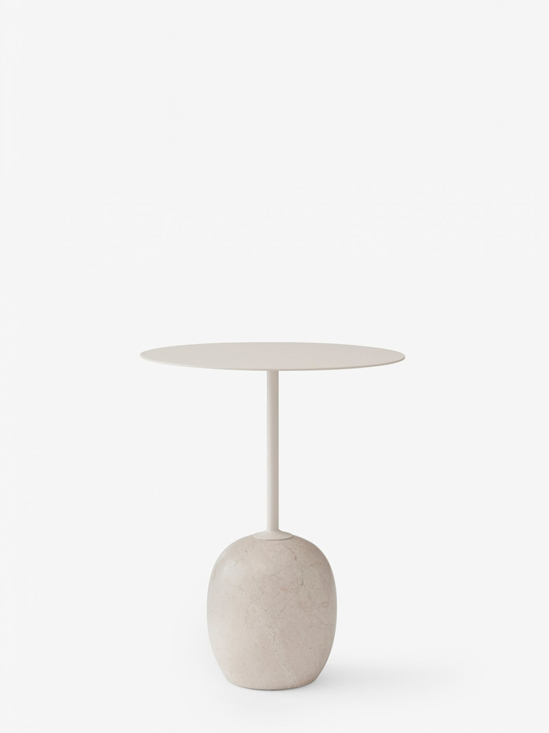 Lato Table LN8 – Ivory White & Crema Diva Marble