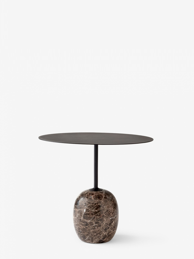 Lato Table LN9 – Warm Black & Emparador Marble