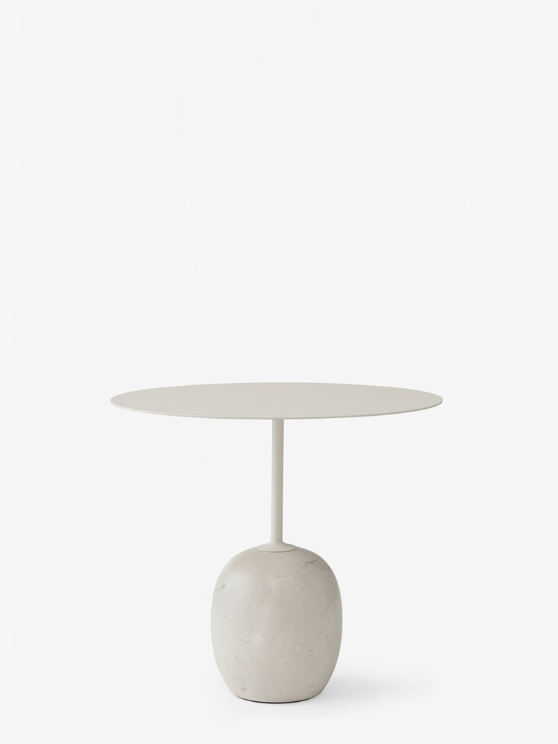 Lato Table LN9 – Ivory White & Crema Diva Marble