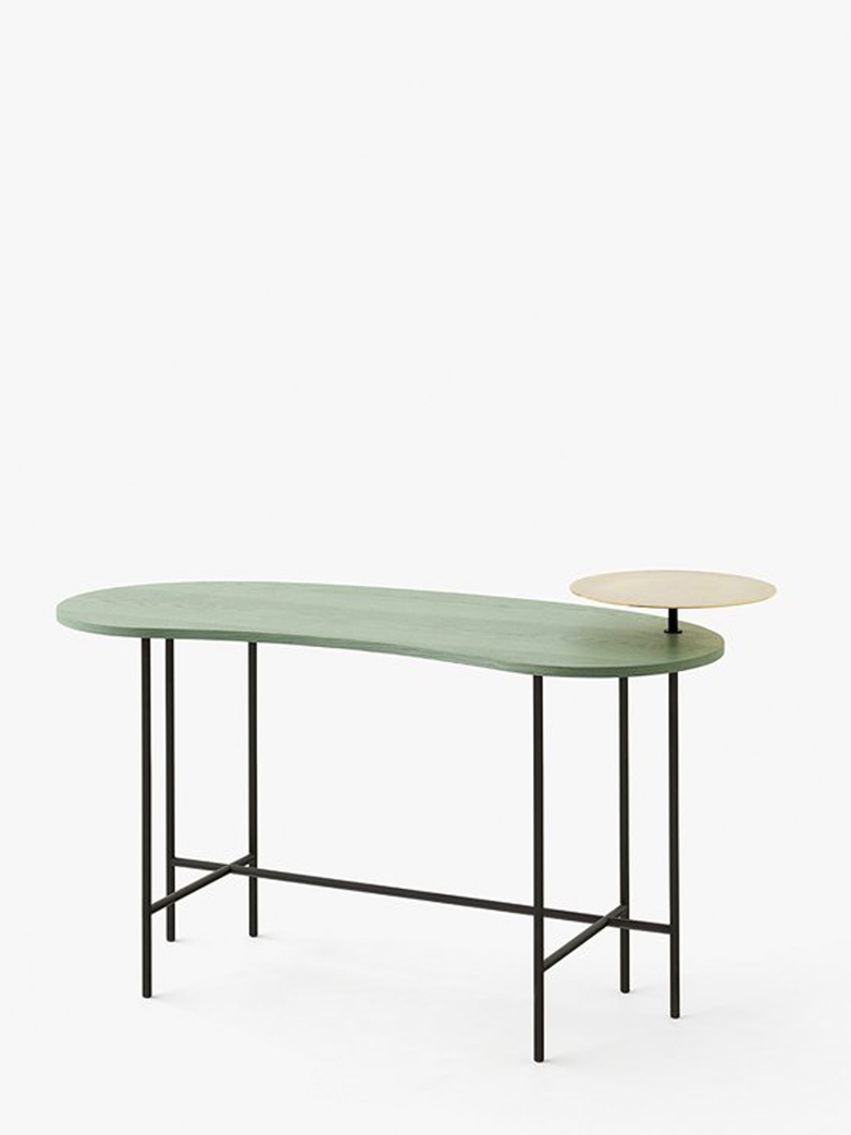 Pallete Desk JH9 – Grey Green Ash & Brass