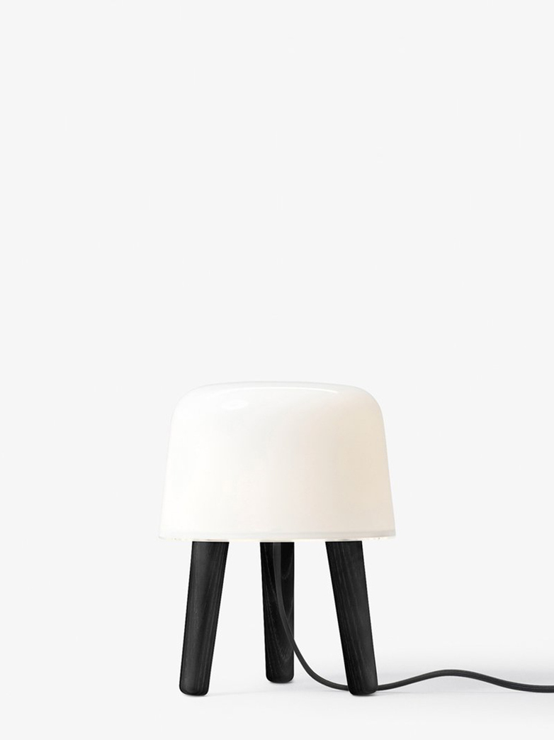 Milk Table lamp NA1 – Blacked Stained Ash