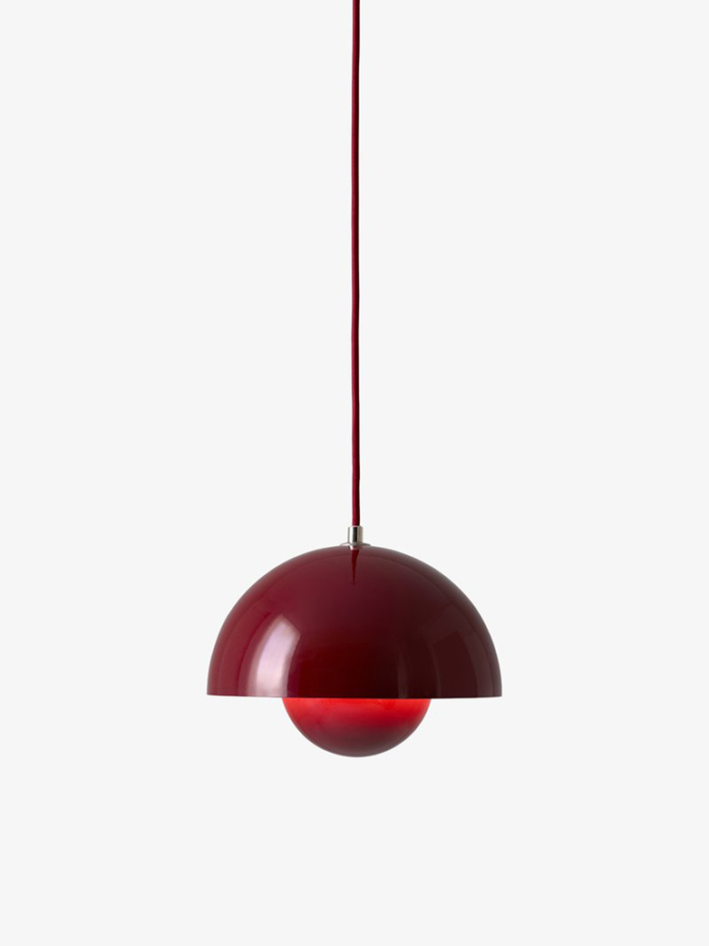 Flowerpot Pendant VP1 – Deep Red