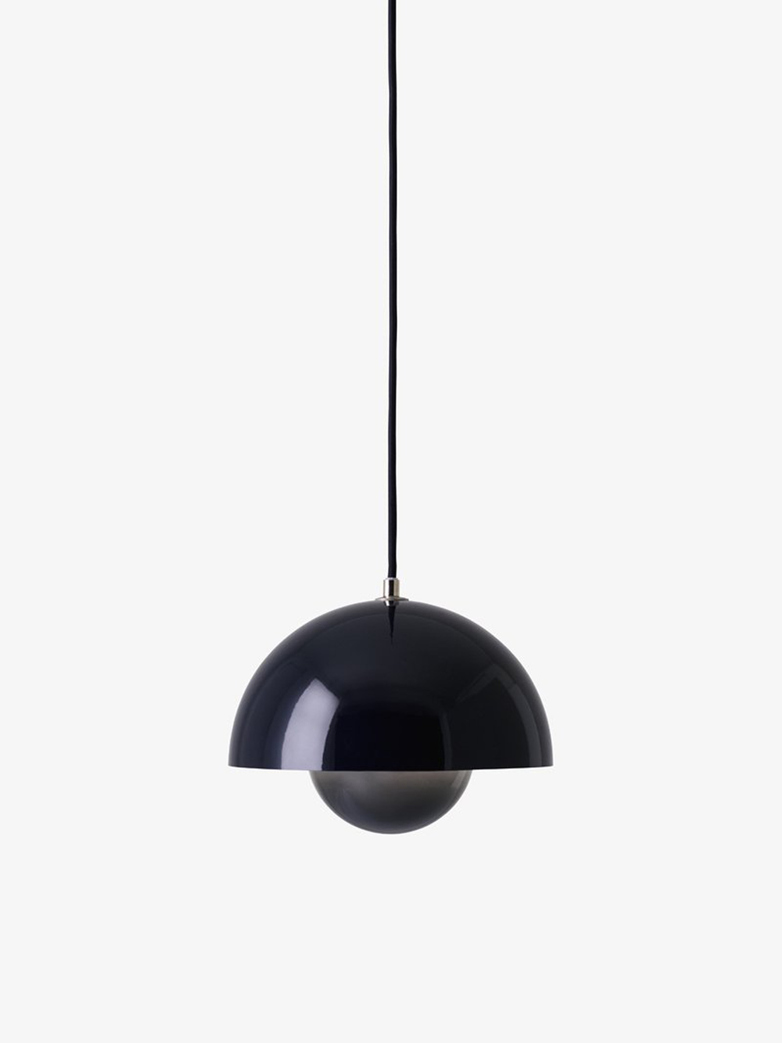 Flowerpot Pendant VP1 – Black Blue