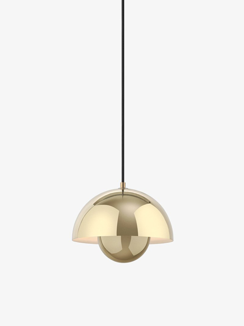 Flowerpot Pendant VP1 – Polished Brass