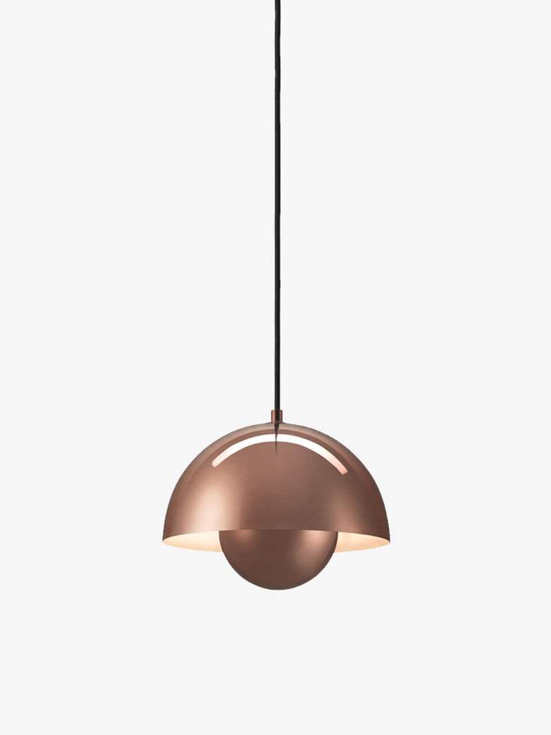 Flowerpot Pendant VP1 – Polished Copper