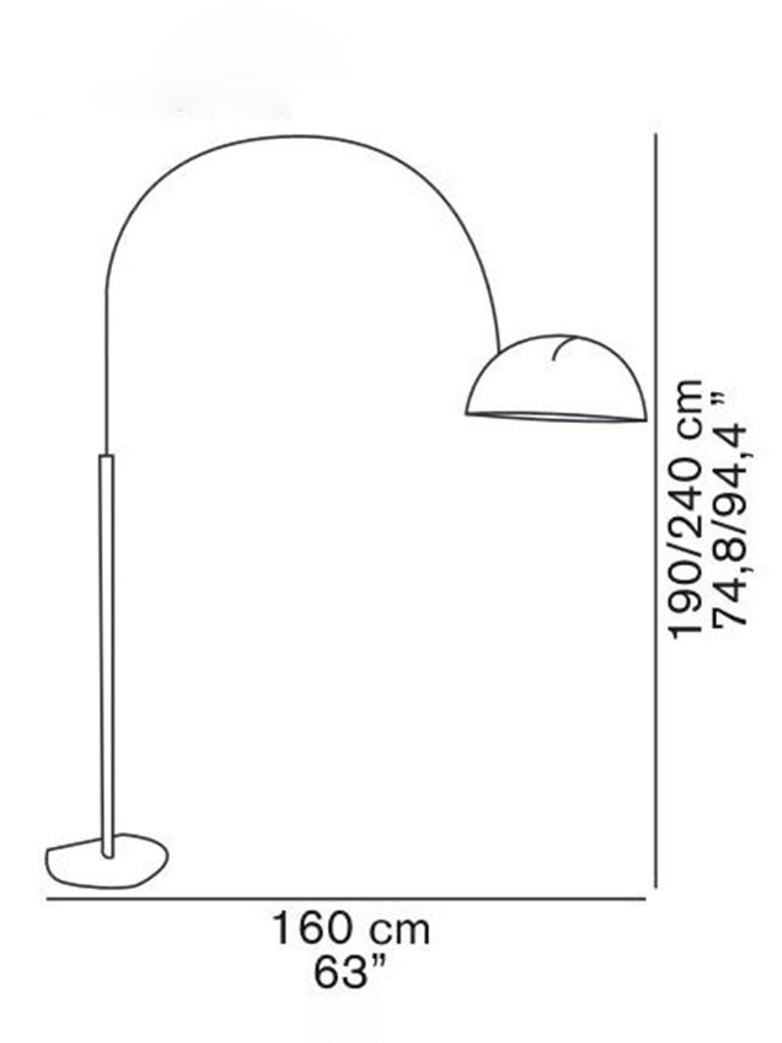 Coupé Floor Lamp 3320 – White