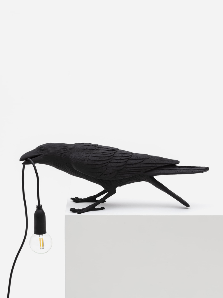 Bird Lamp Playing – Black