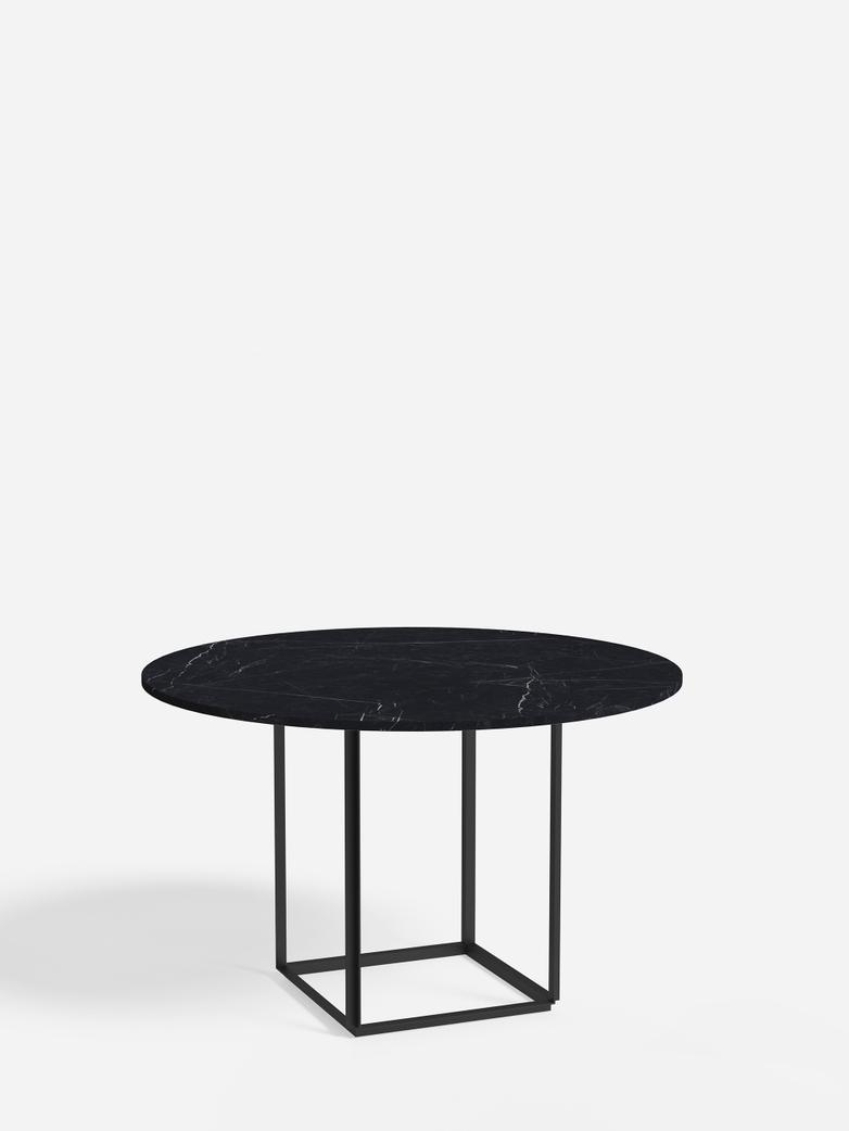 Florence Dining Table – Black Iron/Black Marble – Ø120