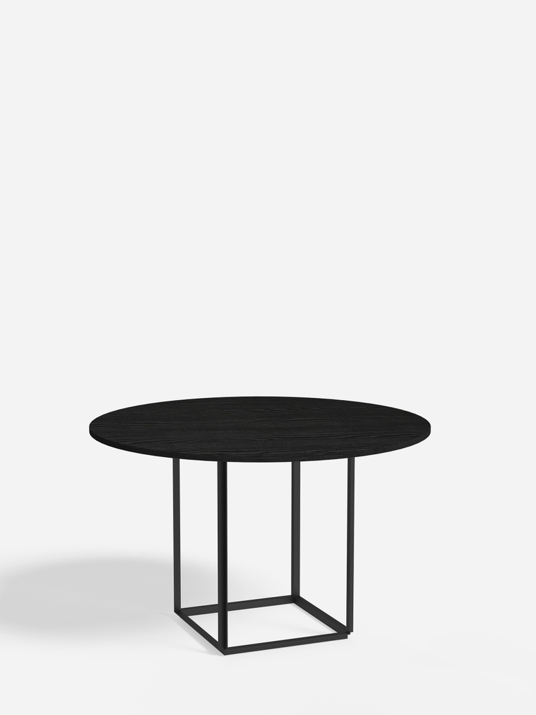 Florence Dining Table – Black Iron/Black Stained Ash – Ø120