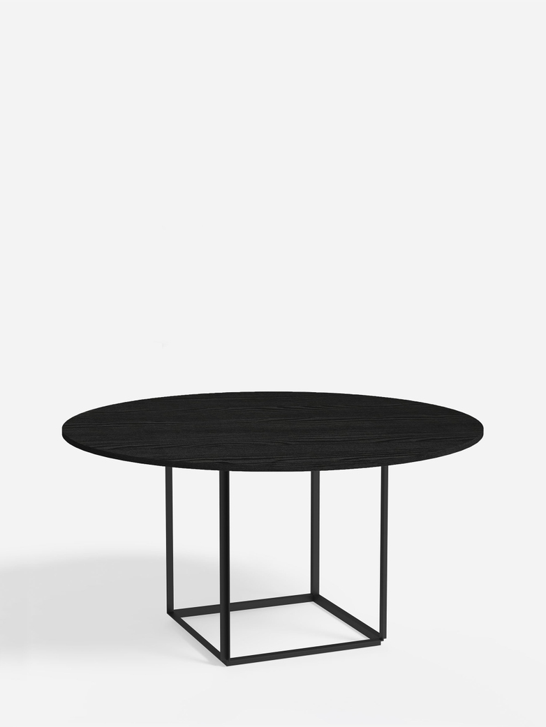 Florence Dining Table – Black Iron/Black Stained Ash – Ø145