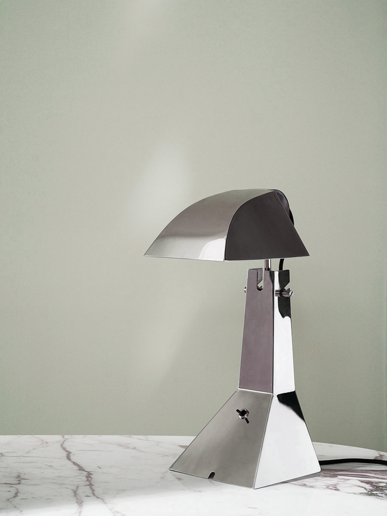 E63 Table Lamp – Polished Chrome