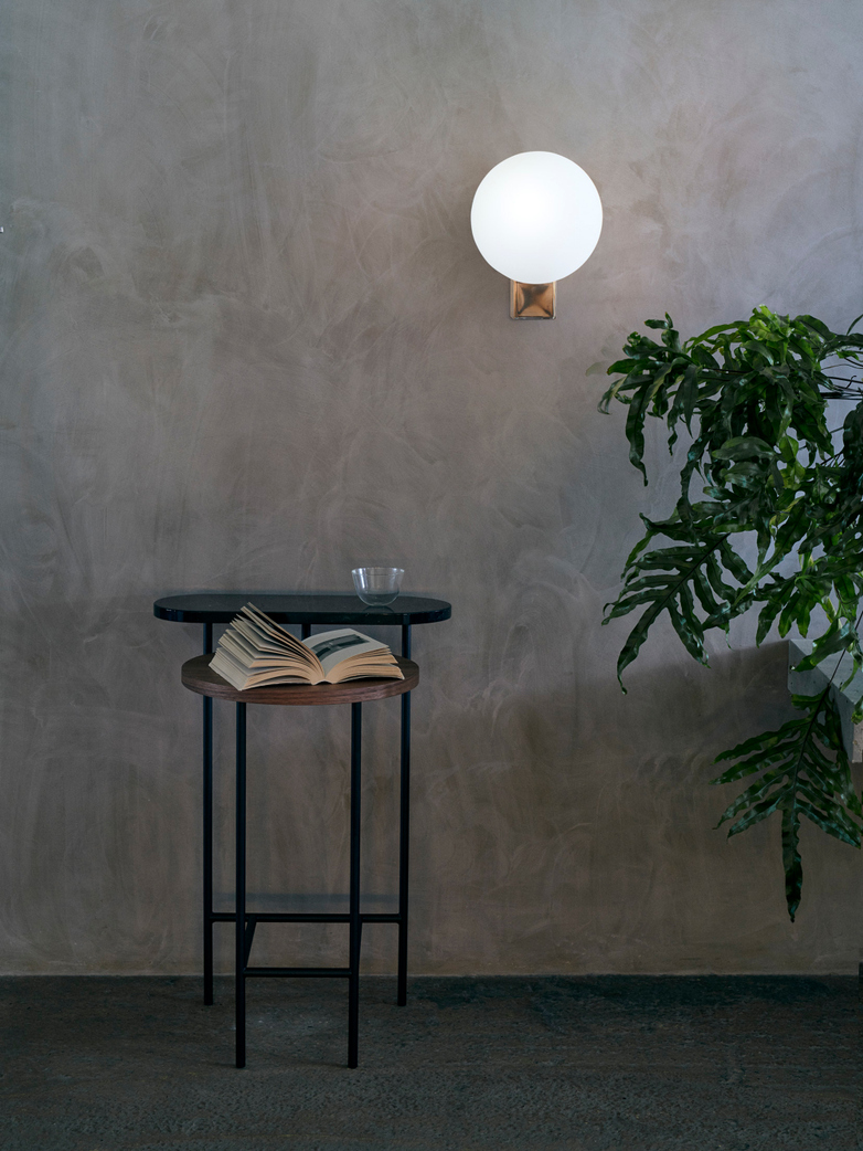 Palette JH26 Side Table – Nero Marquina Marble and Ash Veneer