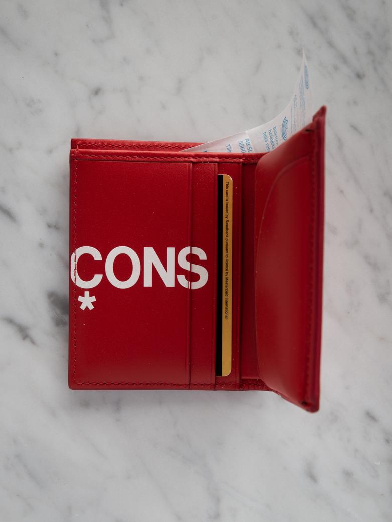 Huge Logo Card Wallet Red