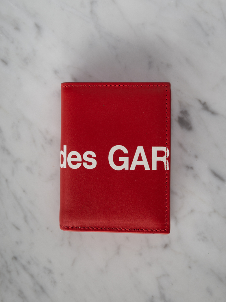 Huge Logo Card Wallet Red
