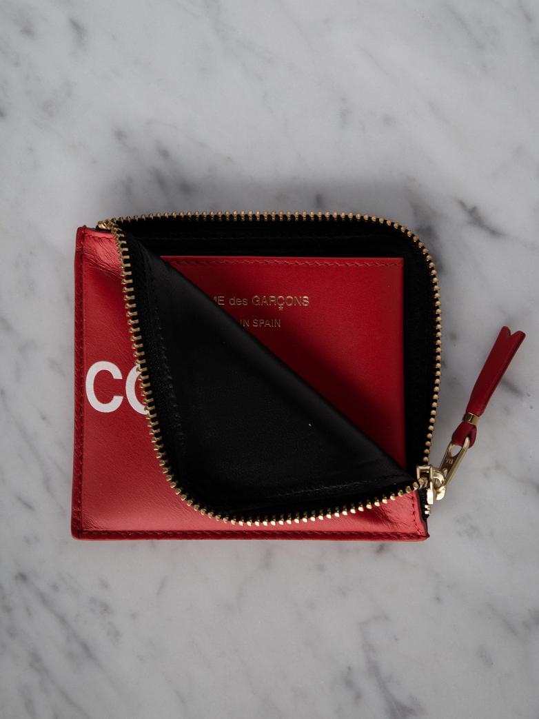 Huge Logo Zip Wallet Red