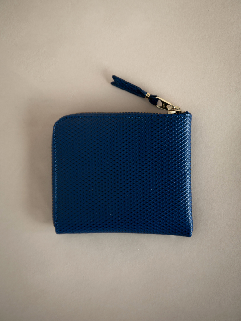 Luxury Zip Wallet Blue