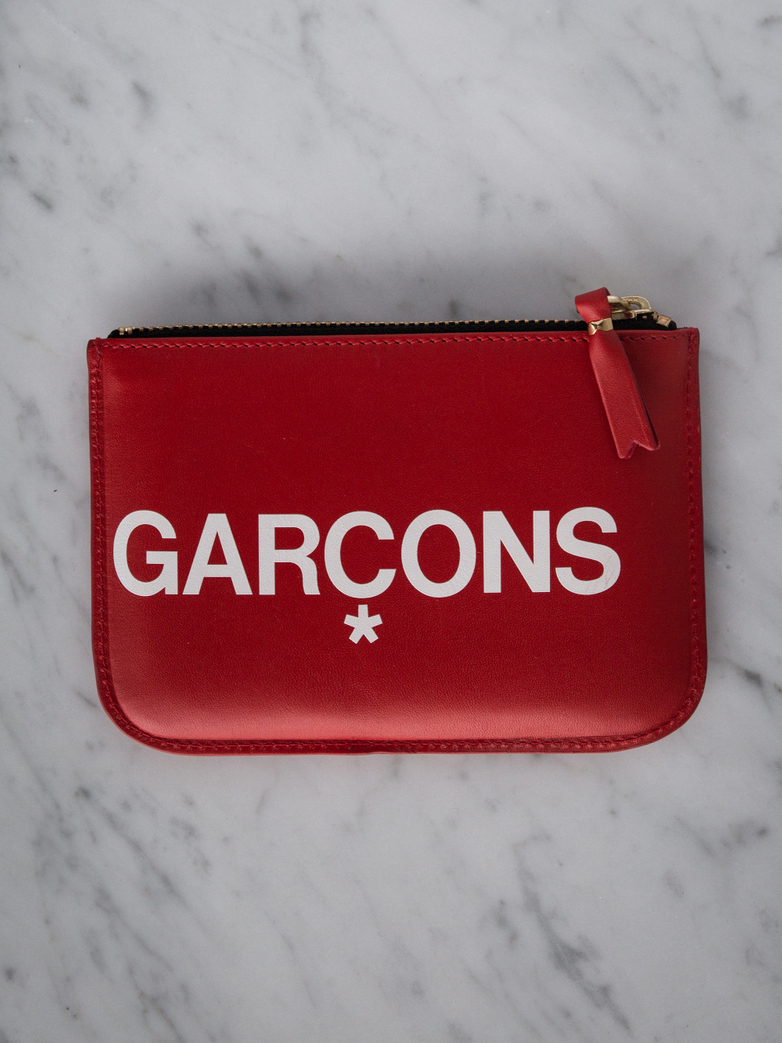 Huge Logo Zip Pouch Wallet Small Red