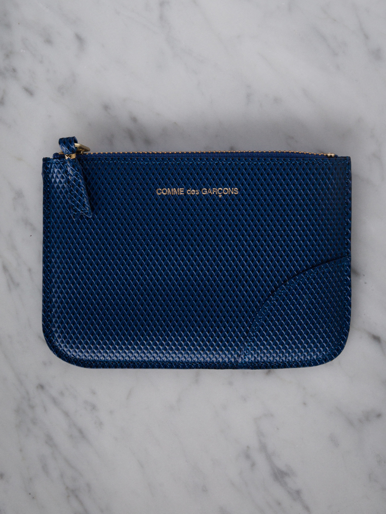 Luxury Zip Pouch Wallet Small Blue