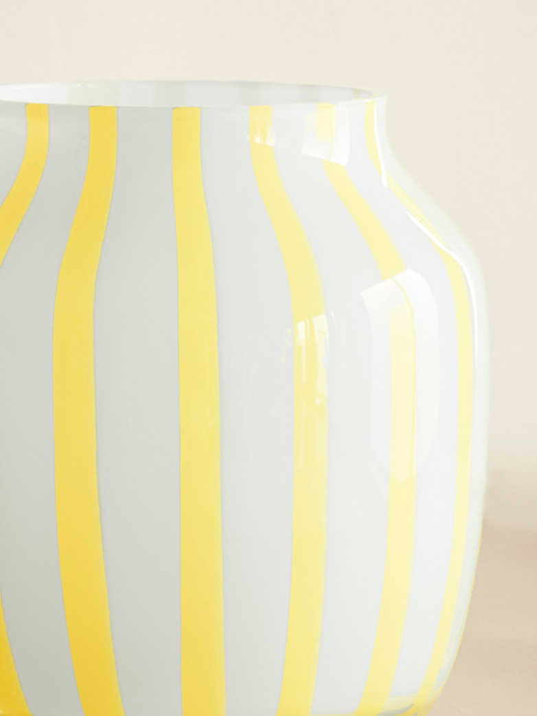 Yellow Juice Wide Vase