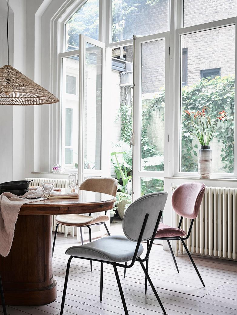 Dining Chair – Velvet Grey