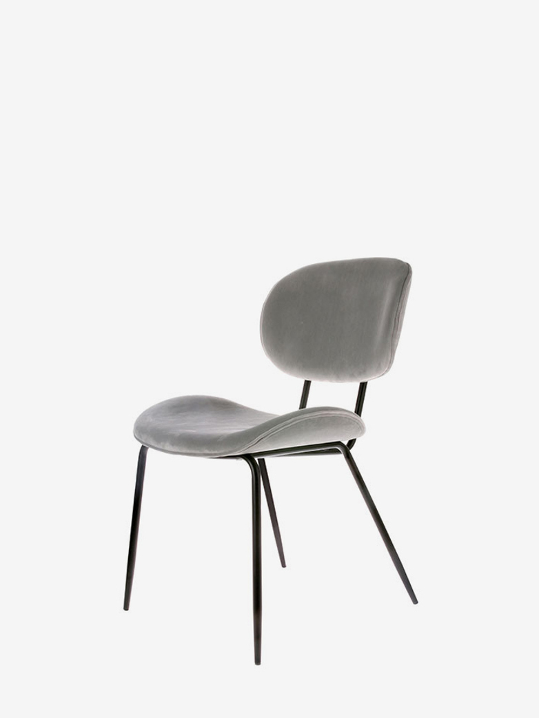 Dining Chair – Velvet Grey