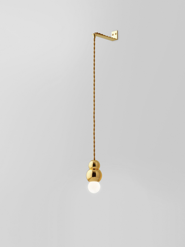 Ball Light Wall Bracket – Brass