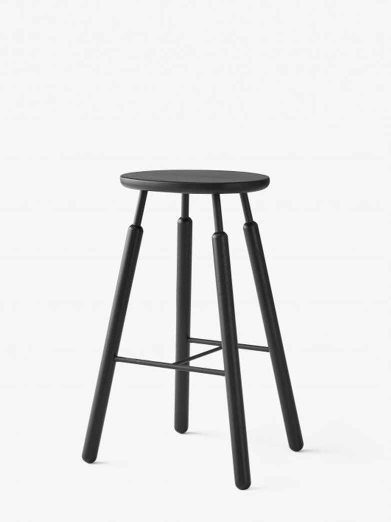 Bar Stool NA8 – Black Lacqured Oak