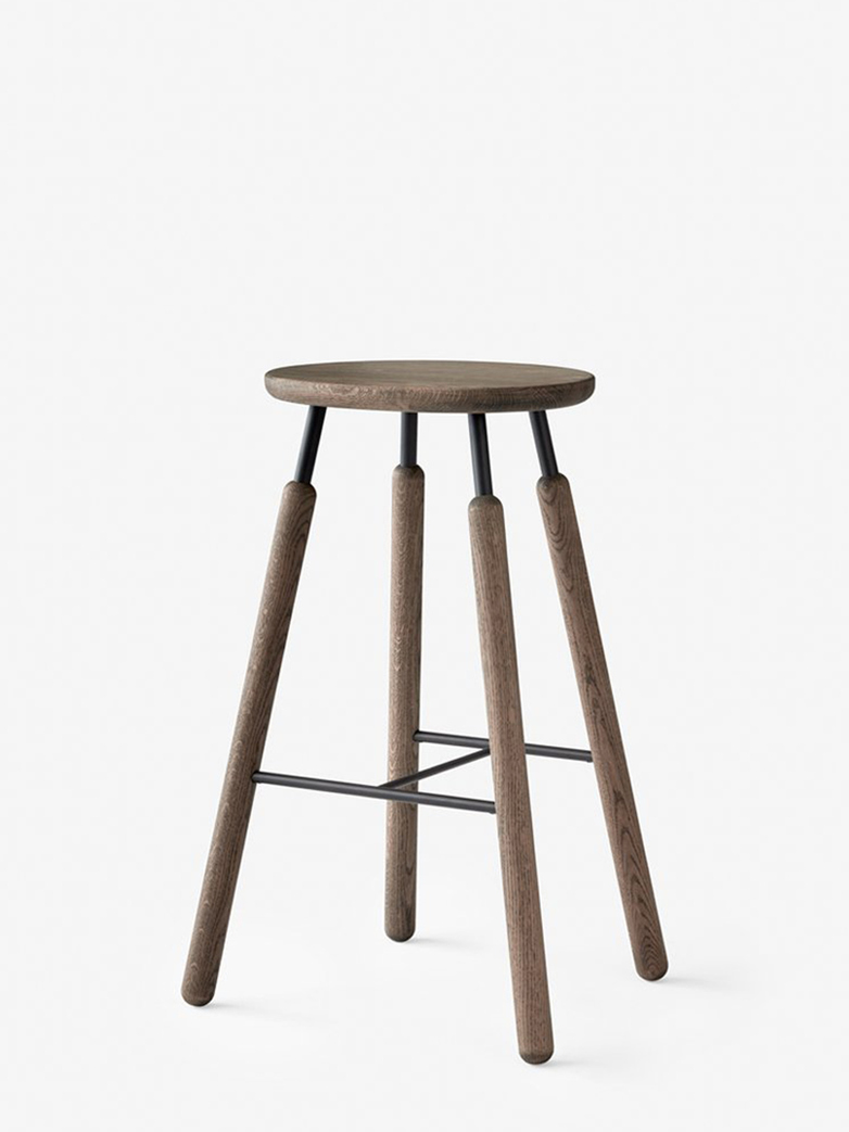 Bar Stool NA8 – Smoked Oiled Oak