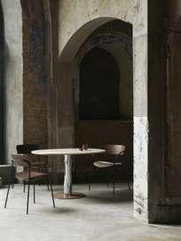 Mezcla JH22 Dinner Table – Oak/Chrome/Clay – 90 x 120